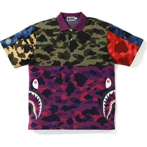 MIX CAMO RELAXED SIDE SHARK POLO MENS