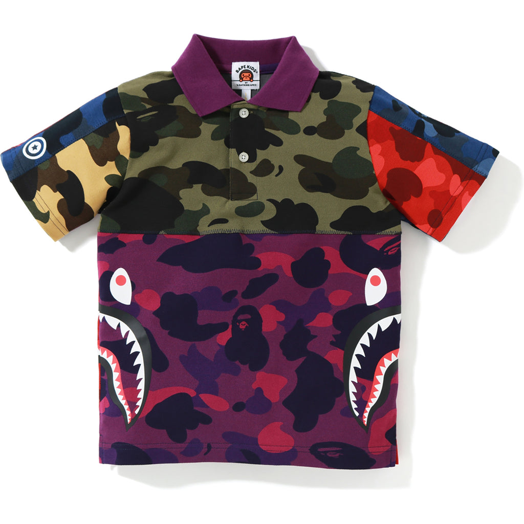 MIX CAMO SIDE SHARK POLO KIDS