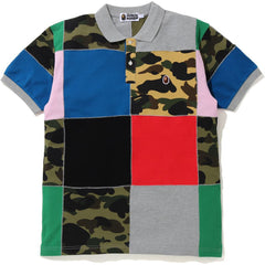 PATCHWORK POLO MENS