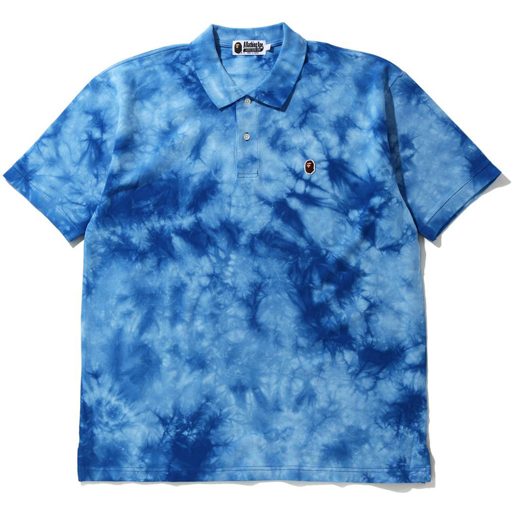 RELAXED TIE DYE POLO MENS