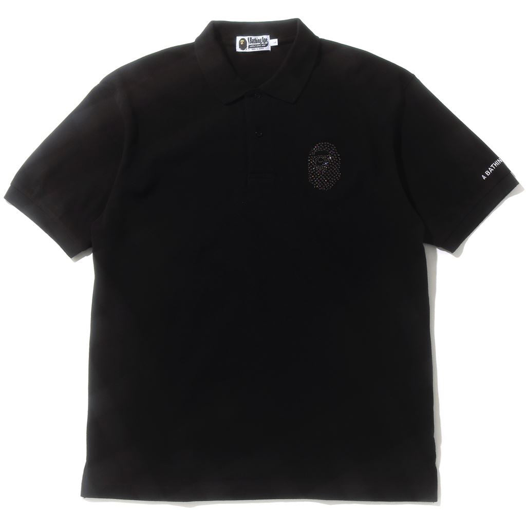 RELAXED MULTI COLOR CRYSTAL STONE POLO MENS