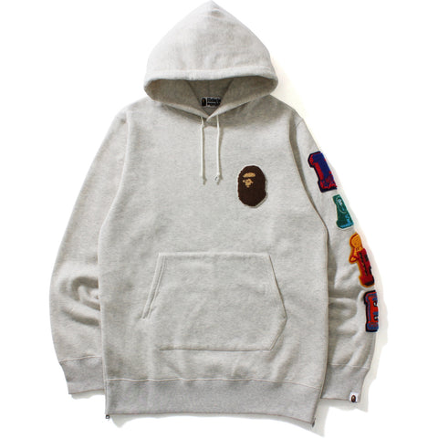 LETTERED LONG PULLOVER HOODIE M