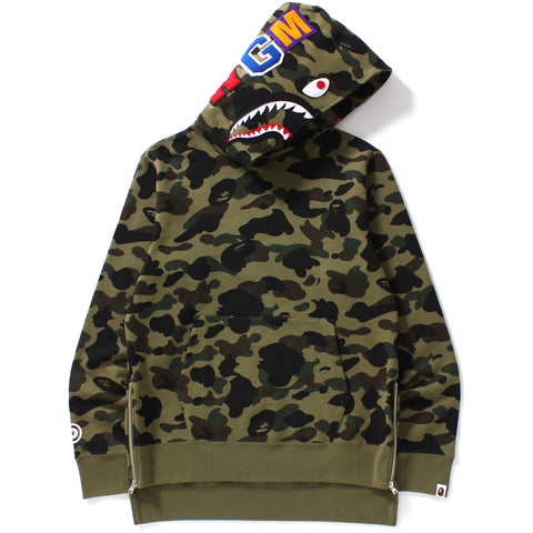 1ST CAMO LONG LENGTH WIDE SHARK PULLOVER