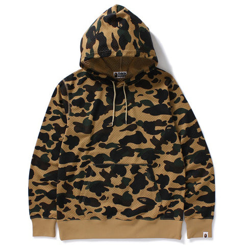 1ST CAMO MESH PULLOVER HOODIE