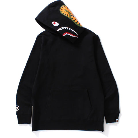 SHARK SIDE ZIP WIDE PULLOVER HOODIE MENS