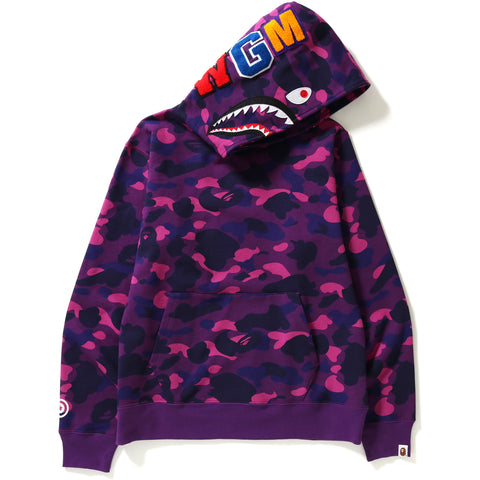 COLOR CAMO SHARK WIDE PULLOVER HOODIE MENS