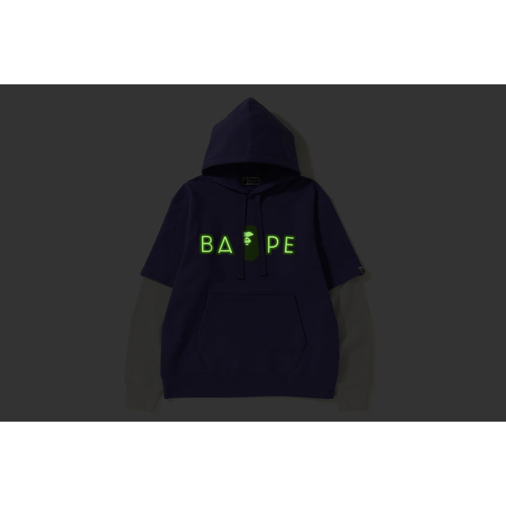 LAYERED MAD FACE WIDE PULLOVER HOODIE MENS