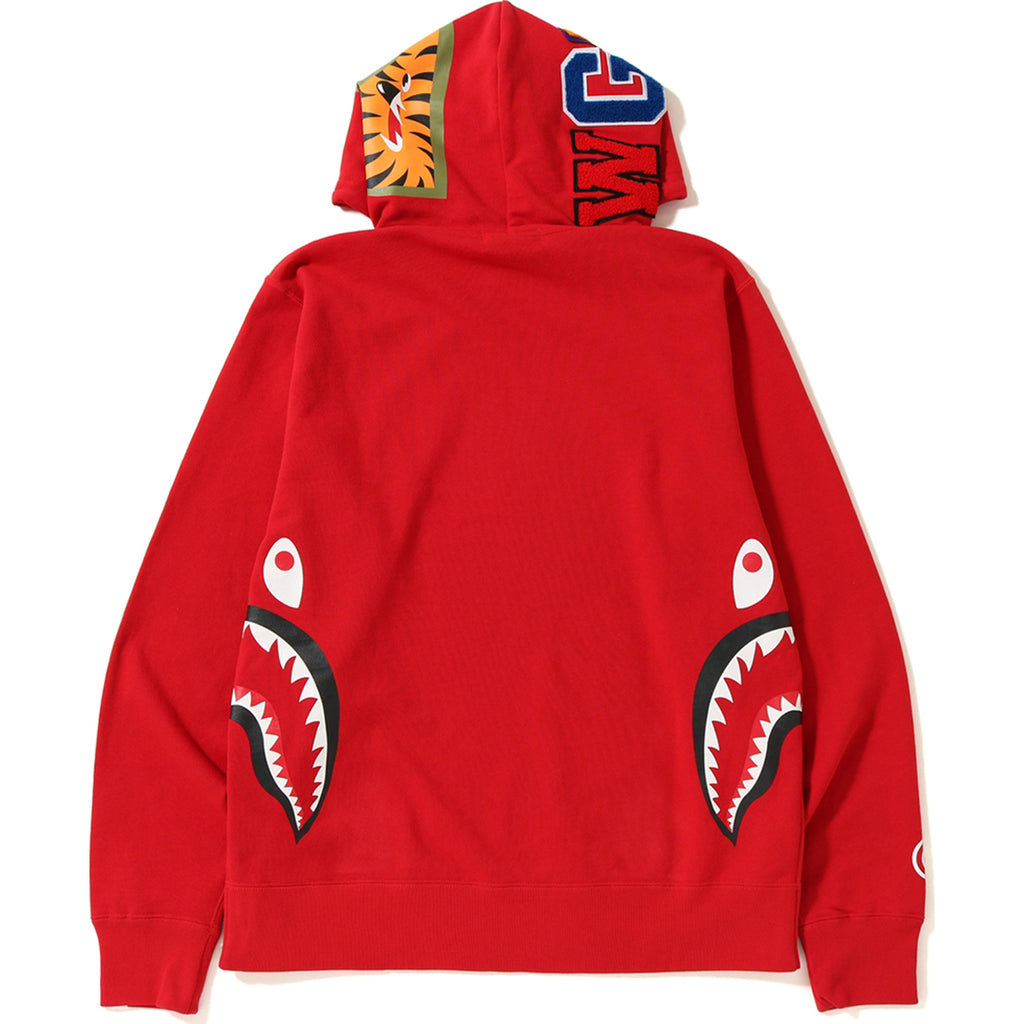 SIDE ZIP SHARK WIDE PULLOVER HOODIE MENS