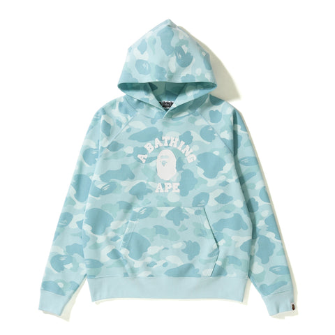 PASTEL COLOR CAMO WIDE PULLOVER HOODIE LADIES