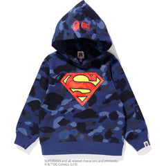 DC X BAPE COLOR CAMO PULLOVER HOODIE KIDS