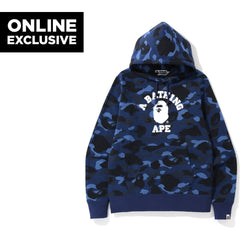 COLOR CAMO COLLEGE PULLOVER HOODIE M BAP MENS
