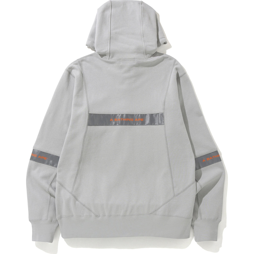 WIDE PATCHWORK PULLOVER HOODIE MENS