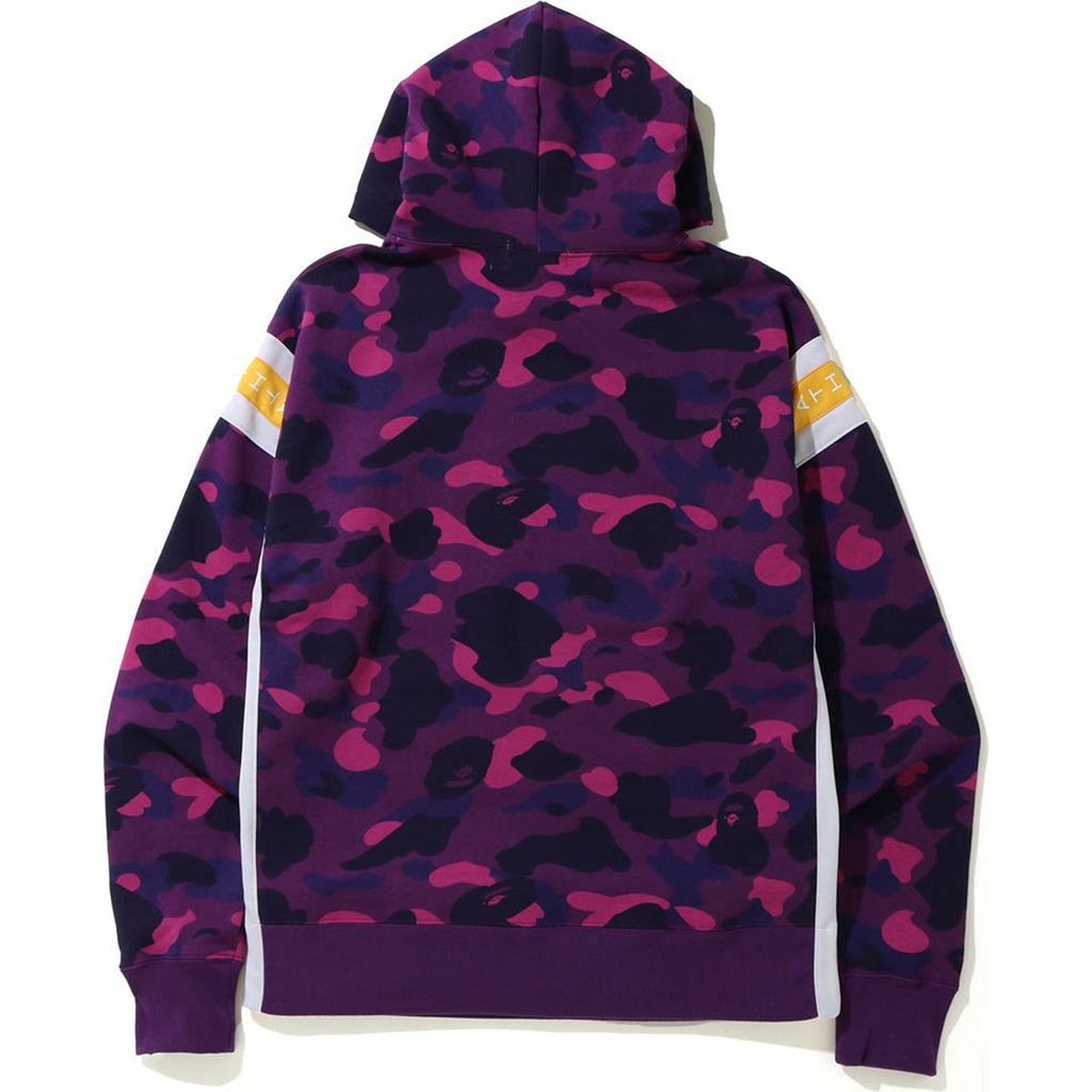COLOR CAMO LOGO TAPE PULLOVER HOODIE MENS