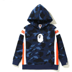 COLOR CAMO LOGO TAPE PULLOVER HOODIE KIDS