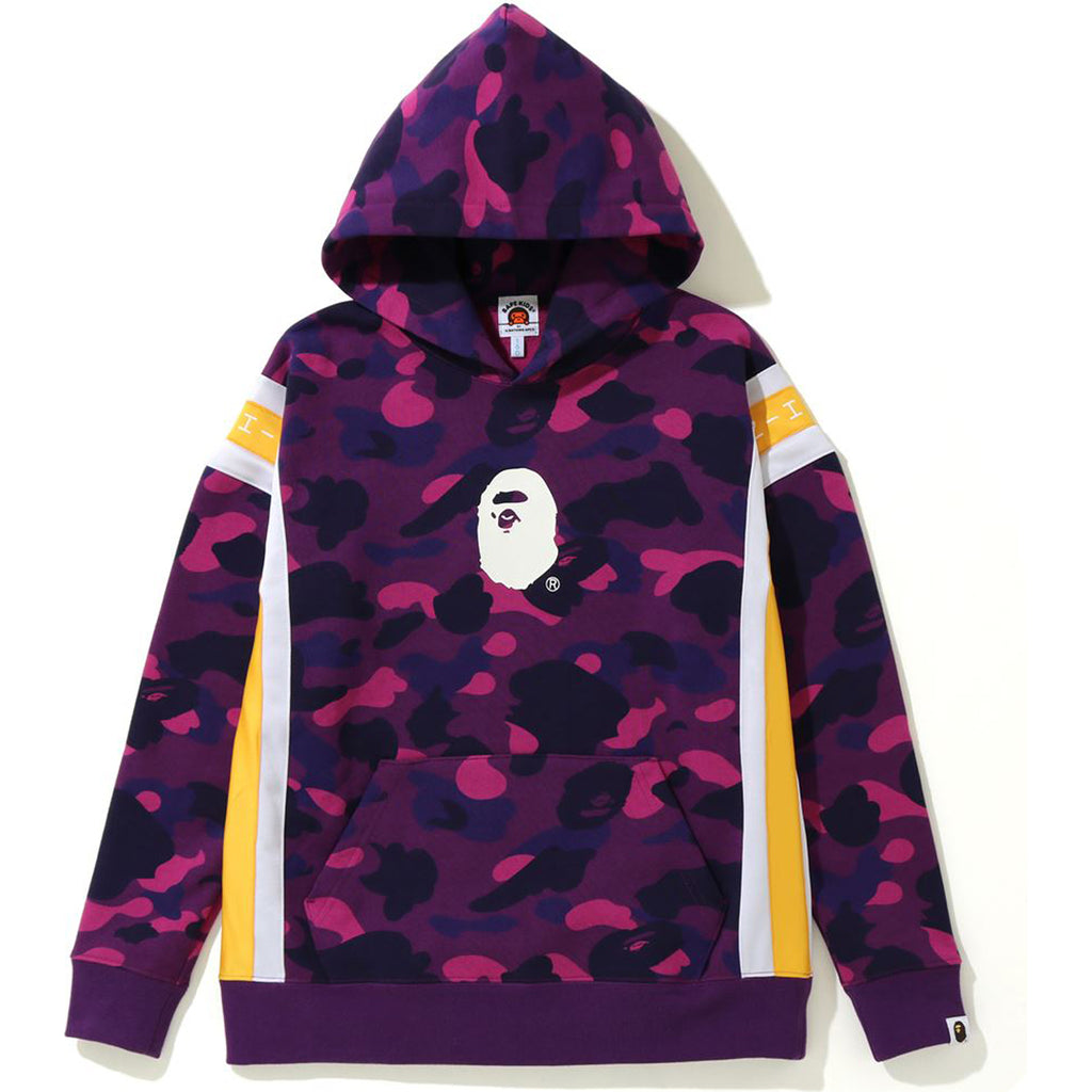 COLOR CAMO LOGO TAPE PULLOVER HOODIE JR KIDS