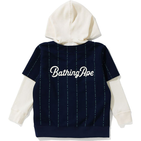 TEXT STRIPE PULLOVER HOODIE KIDS