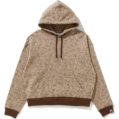 LINE CAMO WIDE PULLOVER HOODIE LADIES