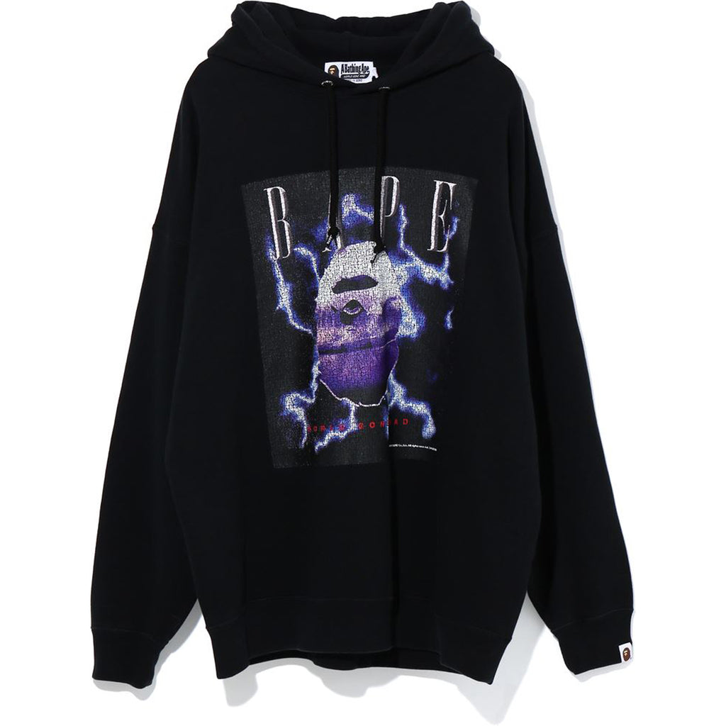 BAPE LIGHTNING WASHED OVERSIZED PULLOVER LADIES