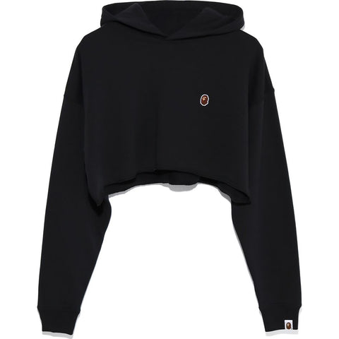 APE HEAD ONE POINT CROPPED PULLOVER HOOD LADIES