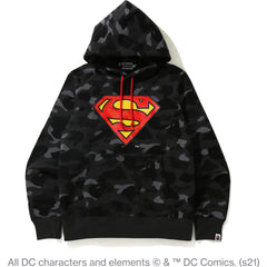 BAPE X DC SUPERMAN PULLOVER HOODIE MENS