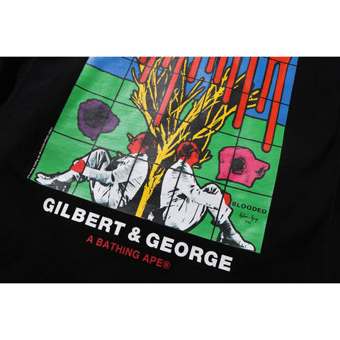 BAPE X GILBERT & GEORGE BLOODED PULLOVER MENS