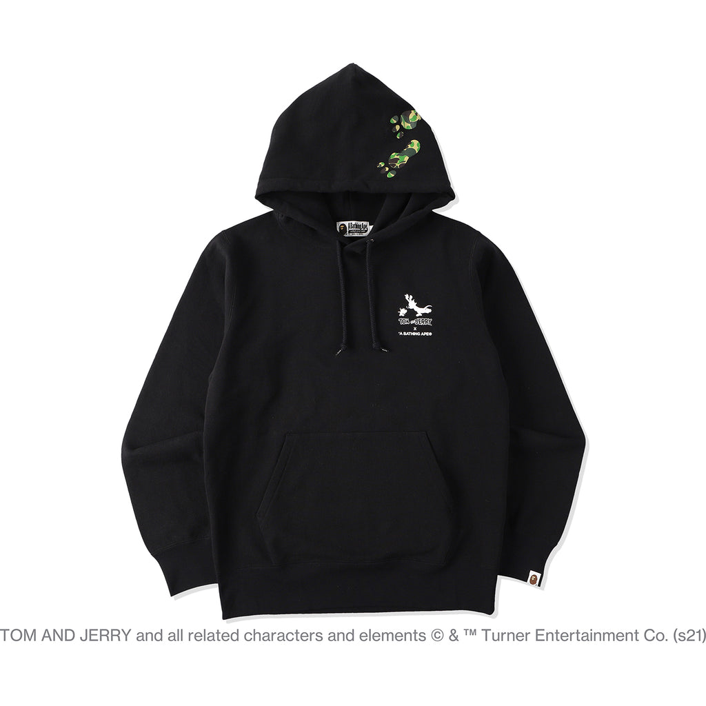 BAPE X TOM AND JERRY FOOTPRINTS PULLOVER HOODIE MENS