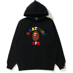 COLLEGE APPLIQUE OVERSIZED PULLOVER HOODIE LADIES
