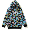 NEW MULTI CAMO OVERSIZED PULLOVER HOODIE LADIES
