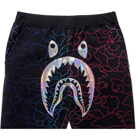 PENCIL NEON CAMO SHARK SLIM SWEAT PANTS LADIES