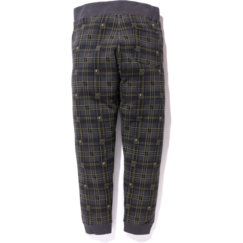 UNDEFEATED CHECK SLIM SWEAT PANTS MENS