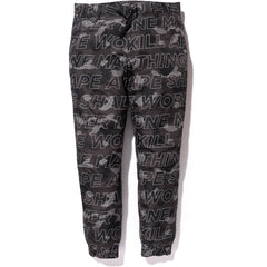 TEXT COLOR CAMO JOGGER PANTS MENS