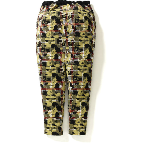 BAPE CHECK CAMO SWEAT PANTS MENS