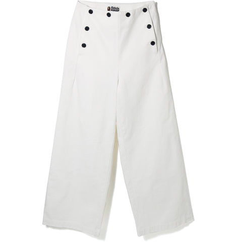 BAPE EMBROIDERY MARINE PANTS LADIES