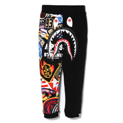 PATCHED SHARK SWEAT PANTS KIDS