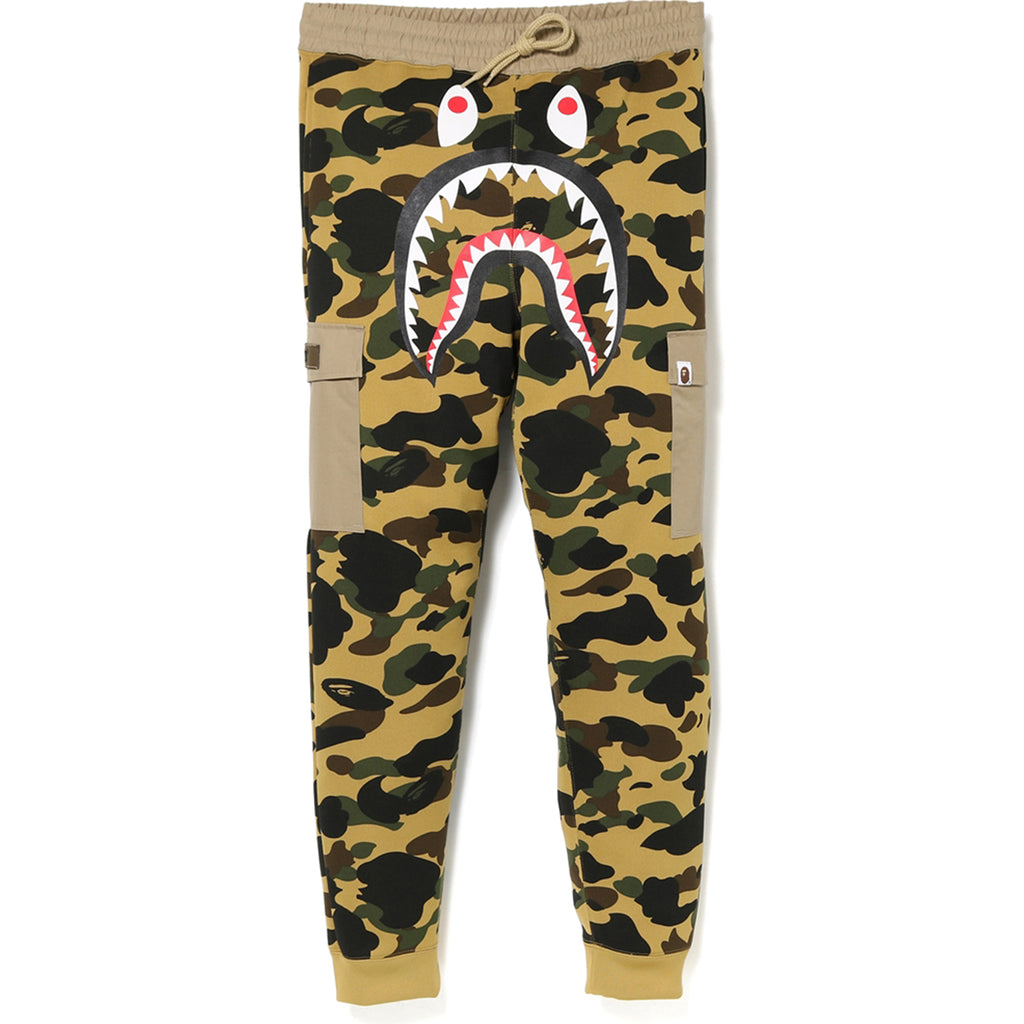1ST CAMO SHARK SLIM SWEAT CARGO PANTS MENS