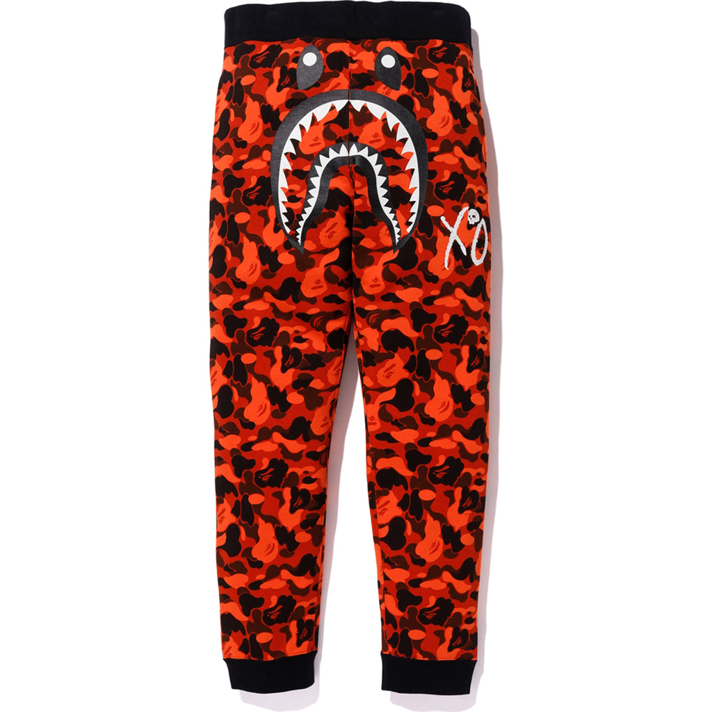 BAPE XO CAMO SHARK SLIM SWEAT PANTS MENS