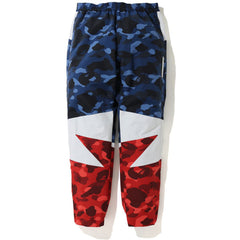 COLOR CAMO BAPESTA TRACK PANTS MENS