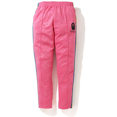 A BATHING APE SIDE TAPE JERSEY PANTS LADIES