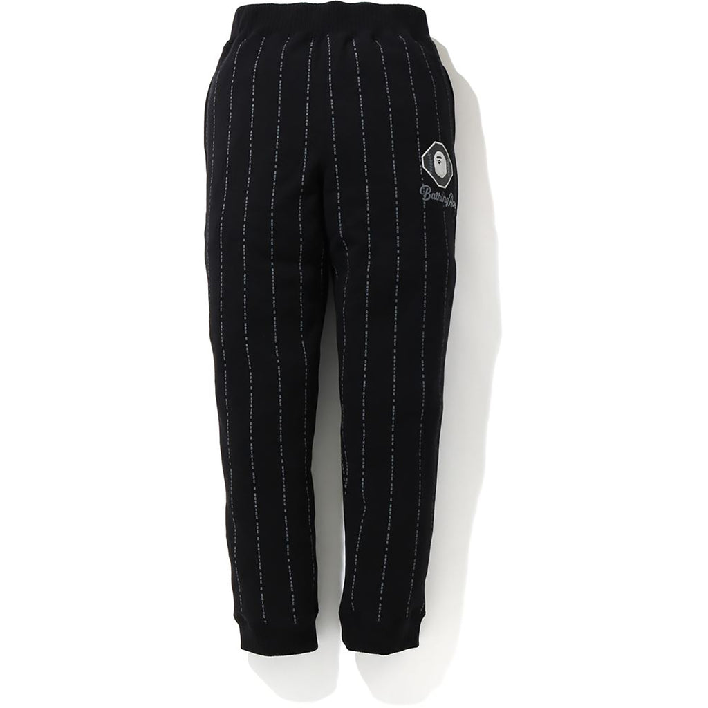 TEXT STRIPE SWEAT PANTS MENS