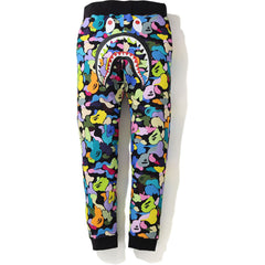 MULTI CAMO SHARK SLIM SWEAT PANTS MENS