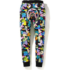 MULTI CAMO SHARK SLIM SWEAT PANTS LADIES