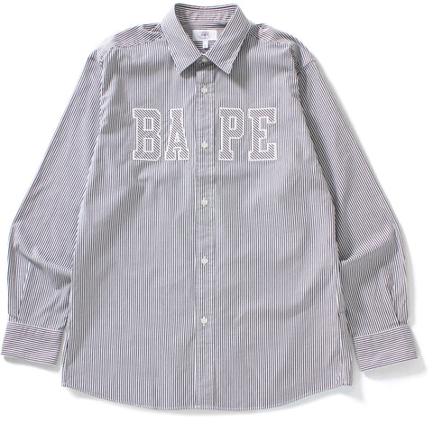 BAPE LOGO STRIPE SHIRT MENS