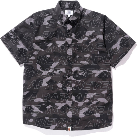 TEXT COLOR CAMO BD S/S SHIRT MENS
