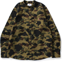 1ST CAMO BAND COLLAR SHIRT M