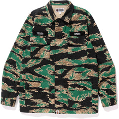TIGER CAMO MILITARY SHIRT MENS
