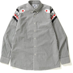 STRIPE SHARK SHOULDER WIDE OXFORD BD SHI MENS