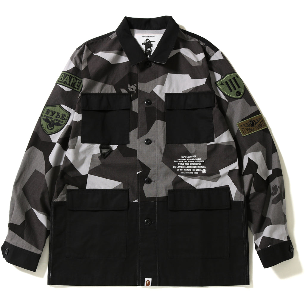 SPLINTER CAMO MILITARY SHIRT MENS
