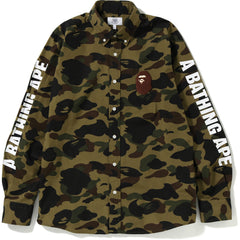 1ST CAMO LARGE APE HEAD BD SHIRT MENS
