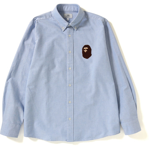RELAXED LARGE APE HEAD OXFORD SHIRT MENS