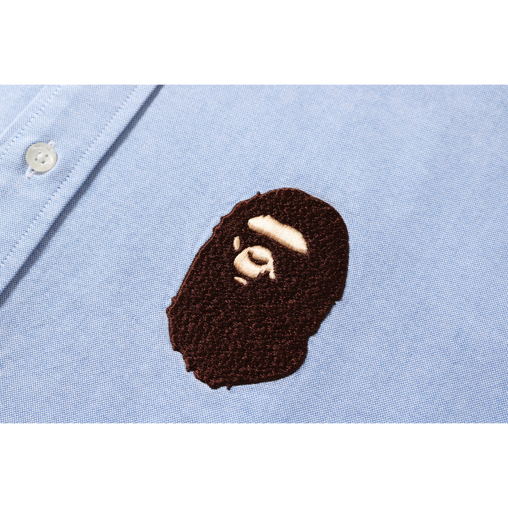 0e96f1bd RELAXED LARGE APE HEAD OXFORD SHIRT MENS | us.bape.com